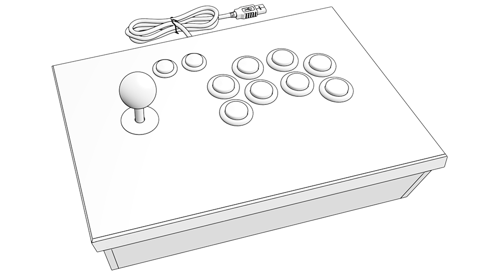graphic relating to Printable Arcade Button Template called Downloads BambooArcade